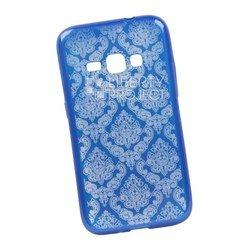 Чехол-накладка для Samsung Galaxy J1 2016 (Liberti Project 0L-00029624) (синий, цветочный узор)