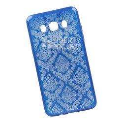 Чехол-накладка для Samsung Galaxy J5 2016 (Liberti Project 0L-00029635) (синий, цветочный узор)