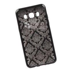 Чехол-накладка для Samsung Galaxy J5 2016 (Liberti Project 0L-00029638) (черный, цветочный узор)