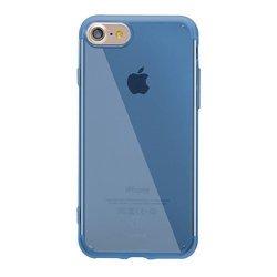 Чехол-накладка для Apple iPhone 7 (Baseus Simple Series) (прозрачный, синий)