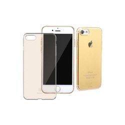 Чехол-накладка для Apple iPhone 7 (Baseus Simple Series) (прозрачный, золотистый)