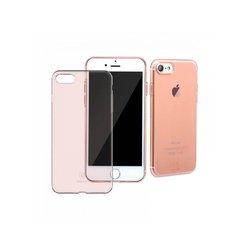 Чехол-накладка для Apple iPhone 7 (Baseus Simple Series) (прозрачный, розово-золотистый)