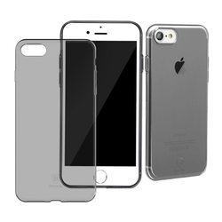 Чехол-накладка для Apple iPhone 7 (Baseus Simple Series) (прозрачный, черный)