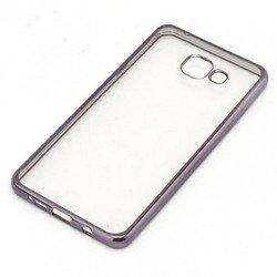 Силиконовый чехол-накладка для Samsung Galaxy A7 2016 (iBox Blaze YT000010287) (черная рамка)