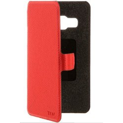 Чехол-книжка для Samsung Galaxy J1 (2016) J120 (TFN FlipCover BC-05-007PURD) (красный)