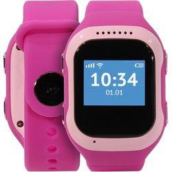 Часы-телефон с GPS-трекером Кнопка жизни K917 (розовый)