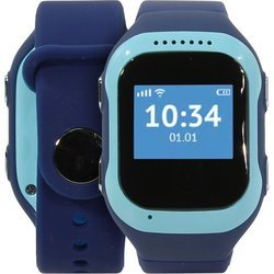 Часы-телефон с GPS-трекером Кнопка жизни K917 (синий)