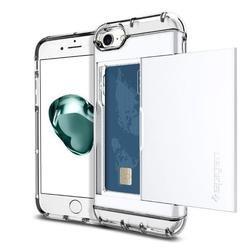 Чехол-накладка для Apple iPhone 7 (Spigen Crystal Wallet 042CS21049) (ультра белый)