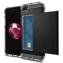 Чехол-накладка для Apple iPhone 7 (Spigen Crystal Wallet 042CS20981) (черный)