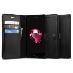 Чехол-книжка для Apple iPhone 7 Plus (Spigen Valentinus 043CS20984) (черный)