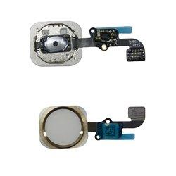 Кнопка Home для Apple iPhone 6, 6 Plus со шлейфом в сборе + верхняя часть кнопки (М0946266) (белый)
