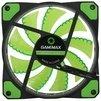 GameMAX GMX-GF12G - Кулер, охлаждениеКулеры и системы охлаждения<br>Система охлаждения для корпуса, 1 вентилятор 120 мм, скорость 1200 об/мин, уровень шума 23 дБ, цвет подсветки: зеленый.<br>
