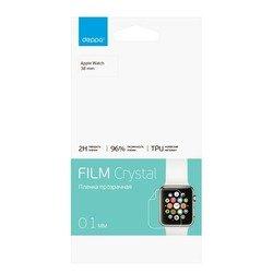 Защитная пленка для Apple Watch 38 мм (Deppa 61430) (прозрачная)