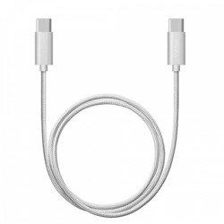 Дата-кабель USB-C - USB-C  (Deppa 72246) (серебристый)