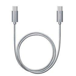 Дата-кабель USB-C - USB-C (Deppa 72248) (серый)