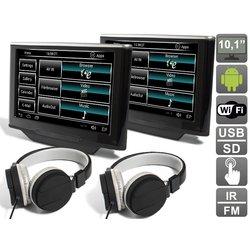 """Навесной монитор на подголовник для Land Rover Freelander II (2010-...), Discovery IV (2009-...), Range Rover Sport I (2009-2013) 10.1"""" (комплект, 2шт) (Avis AVS1033AN (#02))"""