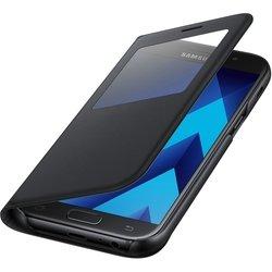 Чехол-книжка для Samsung Galaxy A7 2017 (EF-CA720PBEGRU S View Standing Cover) (черный)