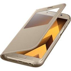 Чехол-книжка для Samsung Galaxy A7 2017 (EF-CA720PFEGRU S View Standing Cover) (золотистый)