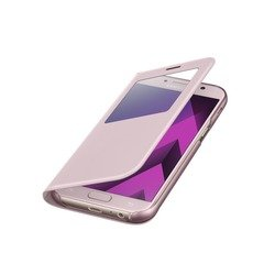 Чехол-книжка для Samsung Galaxy A7 2017 (EF-CA720PPEGRU S View Standing Cover) (розовый)