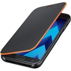 Чехол-книжка для Samsung Galaxy A3 2017 (EF-FA320PBEGRU Neon Flip Cover) (черный)