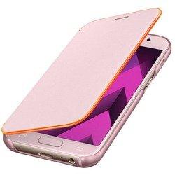Чехол-книжка для Samsung Galaxy A3 2017 (EF-FA320PPEGRU Neon Flip Cover) (розовый)