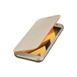 Чехол-книжка для Samsung Galaxy A7 2017 (EF-FA720PFEGRU Neon Flip Cover) (золотистый)