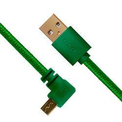 Дата-кабель USB AM-microUSB 5pin 0.3м (Greenconnect GCR-UA11AMCB5-BB2S-G-0.3m) (зеленый)