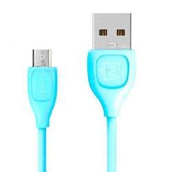 Кабель USB - microUSB (Remax LESU RT-050m) (голубой)