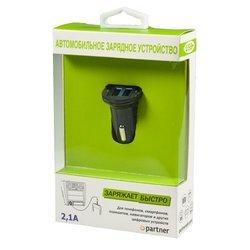 Автомобильное зарядное устройство Partner PRT026560 (черный)