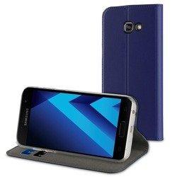 Чехол-книжка для Samsung Galaxy A7 2017 (Muvit Folio Stand Case MUFLS0088) (синий)