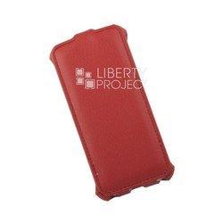 Чехол-флип для Apple iPhone 5, 5S (Liberti Project 0L-00002589) (красный)