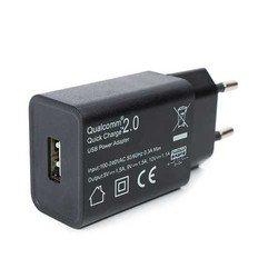 Сетевое зарядное устройство 1хUSB (Robiton QuickCharger 13774) (черный)
