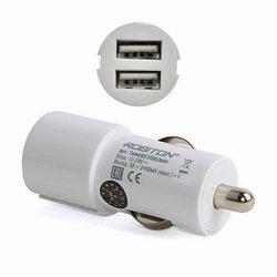 Автомобильное зарядное устройство 2хUSB (Robiton TwinUSB2400/AUTO 13910) (белый)