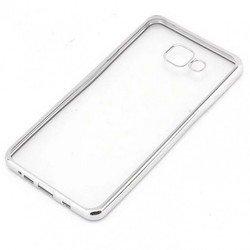 Силиконовый чехол-накладка для Samsung Galaxy A3 2017 (iBox Blaze YT000010248) (серебристая рамка)