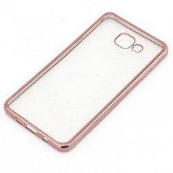 Силиконовый чехол-накладка для Samsung Galaxy A5 2017 (iBox Blaze YT000010251) (розовая рамка)