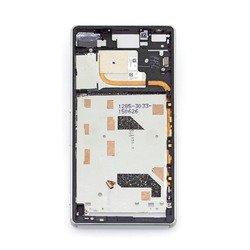 Средняя часть корпуса для Sony Xperia Z3 D6603 (М0950005) (серебристый)