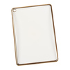 Чехол-накладка для Apple iPad Air 2 (Liberti Project 0L-00029493) (прозрачный, золотистая рамка) - Чехол для планшетаЧехлы для планшетов<br>Силиконовый чехол плотно облегает корпус планшета и гарантирует его надежную защиту от царапин и потертостей.<br>