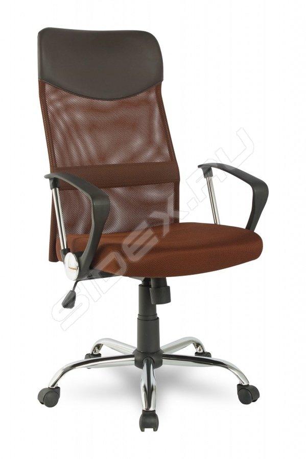 Кресло офисное COLLEGE H-966L-1 черный кожа 120 кг подлокотники хром крестовина хром (ШxГxВ) см 58x63x103-111