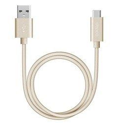Кабель USB - USB Type-C 1.2м (Deppa 72250) (золотистый)