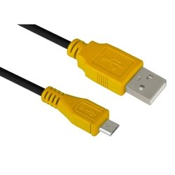 Кабель USB AM-microUSB 5pin 3m (Greenconnect GCR-UA3MCB1-BB2S-3.0m) (желтый, черный)
