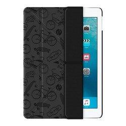 Чехол-книжка для Apple iPad Pro 9.7 (Onzo Wallet 88023) (c тиснением, темно-серый)