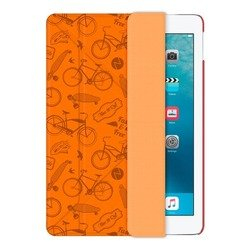Чехол-книжка для Apple iPad Pro 9.7 (Onzo Wallet 88024) (c тиснением, оранжевый)