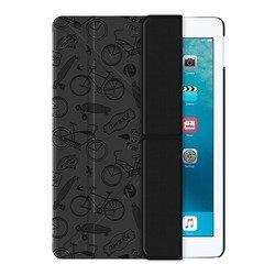 Чехол-книжка для Apple iPad Pro (Onzo Wallet 88026) (c тиснением, темно-серый)