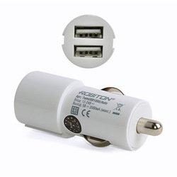 Автомобильное зарядное устройство 2хUSB (Robiton TwinUSB1000/AUTO 13776) (белый)