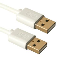 Дата-кабель USB AM-USB AM 0.5м (Greenconnect GCR-UM6M-AAG-0.5m) (белый)