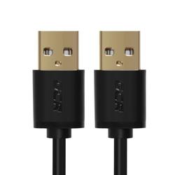 Дата-кабель USB AM-USB AM 0.5м (Greenconnect GCR-UM5M-BB2S-0.5m) (черный)