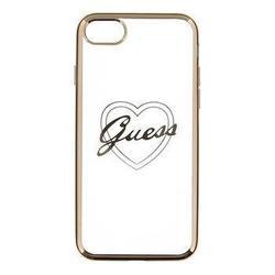 Чехол-накладка для Apple iPhone 7 (Guess GUHCP7TRHG) (золотистый, прозрачный)