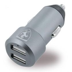 Автомобильное зарядное устройство 2хUSB 4.8А (Ferrari FECC2USBGR) (серый)