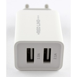 Сетевое зарядное устройство 2xUSB (Red Line Lux Z2 YT000010357) (белый)