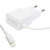 Сетевое зарядное устройство для Apple iPhone 5, 5C, 5S, 6, 6 plus, 6S, 6S Plus, 7, 7 Plus, iPad 4, Air, Air 2, Pro 9.7, Pro 12.9, PRO, mini 1, mini 2, mini 3, mini 4 (Liberti Project 0L-00030222) (белый) - Сетевое зарядное устройствоСетевые зарядные устройства<br>Аксессуар предназначен для зарядки аккумулятора Вашего устройства с разъемом Lightning от сети переменного тока. Ток зарядки 2.1А.<br>